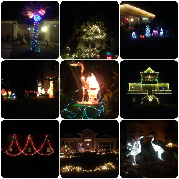 xmas light collage