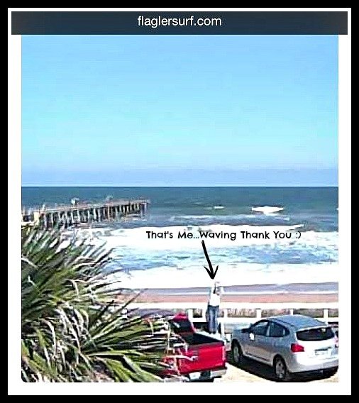 Ode To The Web Cam Flagler Surf Is A Beach Website With Live Stream Webcam Of Atlantic Ocean